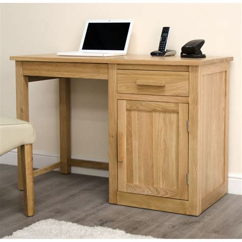 Small Oak Desk With Drawers Arden Small Office Pc Computer Desk Solid Oak Furniture With Keyboard Drawer
