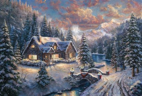 christmas wallpaper 1366 x 786 high country christmas limited edition art the thomas