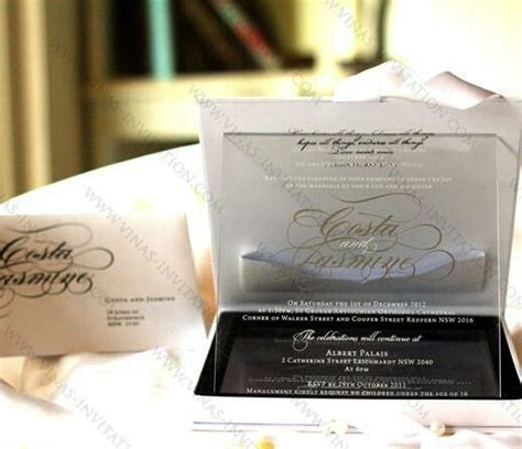 17 Best images about Acrylic Wedding Invitation on