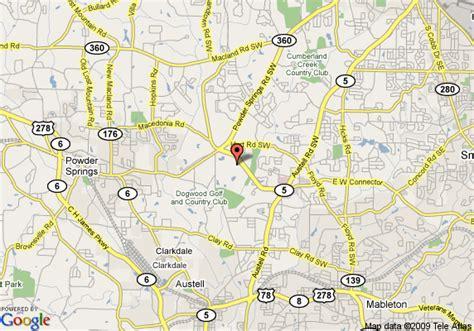 map of inn express hotel suites atlanta powder
