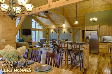 Ranch Style Home Floor Plans by Golden Eagle Log And Timber Homes Exposed Beam Timber