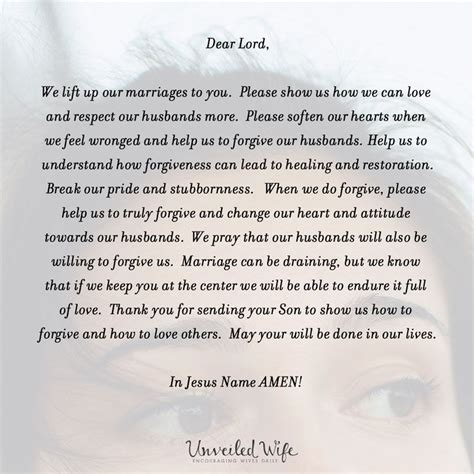 what to get your husband for prayer of the day forgiving your husband