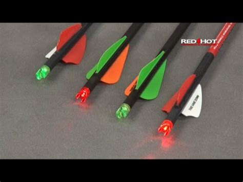 lighted nocks for ravin crossbow red lighted crossbow capture nocks youtube