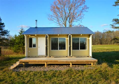 Tin Cabin by Builds Cozy Tin Can Cabin Out Of Shipping Containers