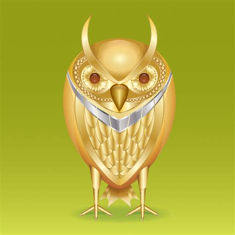 tutorial illustrator owl how to create a golden mechanical owl in illustrator