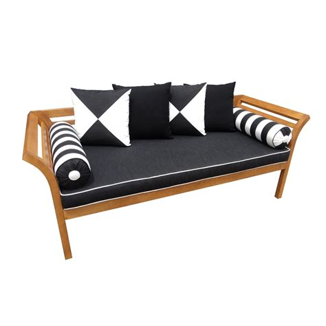 mimosa curved timber day bed with cushion i n 3191382