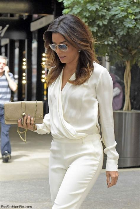 eva longoria looks expectant in blouse as she attends political style watch celebrity street style september 2014 fab