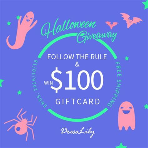 Fashion Giveaways - dresslily halloween fashion giveaway