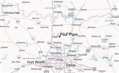 map of pilot point texas pilot point location guide