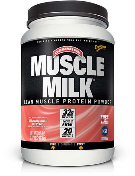 muscle milk light strawberry muscle milk powder strawberries n cr 232 me 2 47 lb