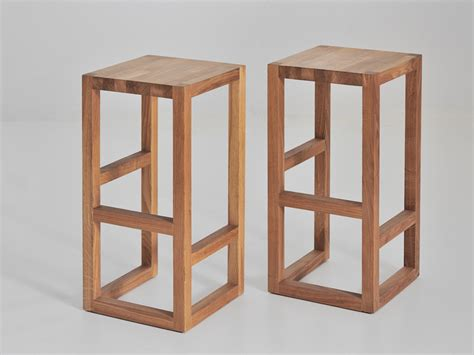 Wooden Stool Designs solid wood stool step by vitamin design for the island