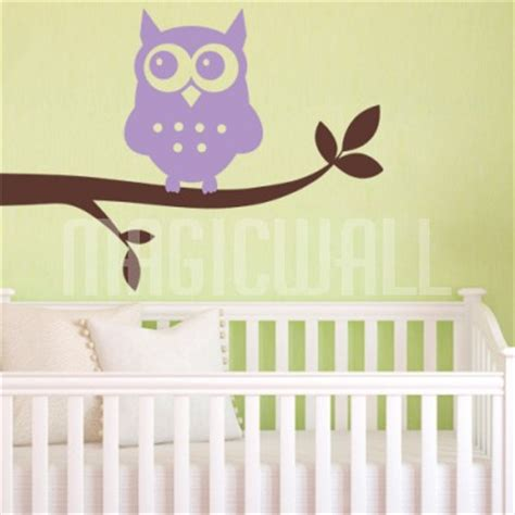 owl wall stickers for nursery wall decals owl branch nursery wall stickers