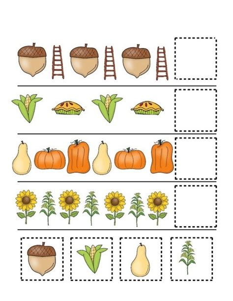 Cut And Paste Fall Worksheets fall autumn worksheets cut and paste 171 funnycrafts