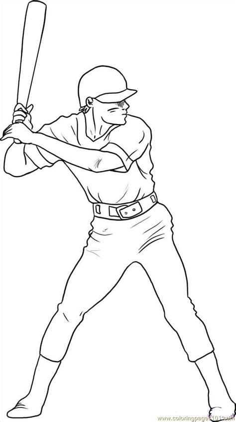 Baseball Player Coloring Pages Coloring Home Baseball Player Coloring Pages