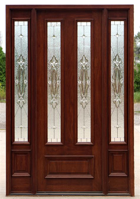 8 front door exterior doors with sidelites 8 0 quot solid mahogany doors