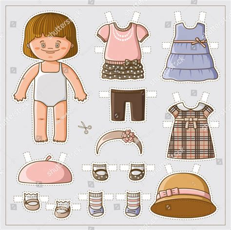 dress a doll template 25 printable paper doll templates free premium
