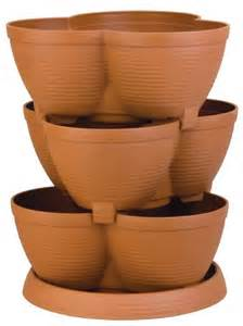 new stackable multi tiered pot planter stacking layered