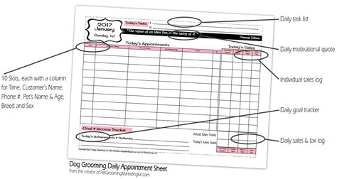 sample flyers for marketing 2017 dog grooming appointment book and marketing planner