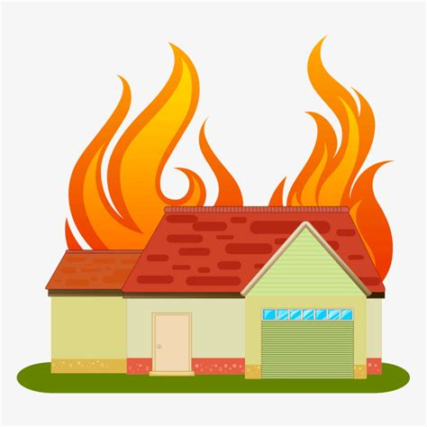 the house is on fire the house is on fire flame material houses png and psd file for free download