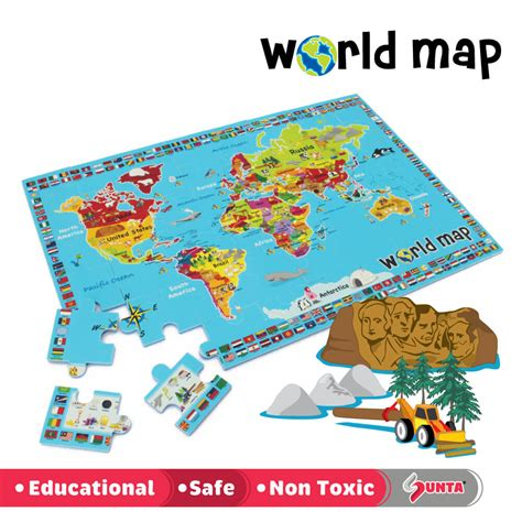 printable jigsaw map of the world world map jigsaw puzzle kiyobaby