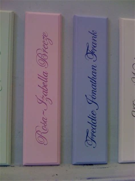 childrens bedroom door name plaques written