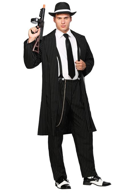 Mens 20s Costumes Costume Discounters | mens 20s black zoot suit costume adult 1920s gangster
