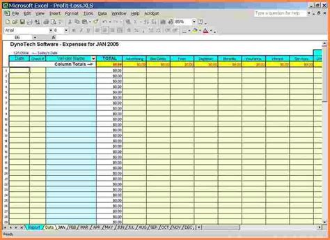 5 business expense tracking spreadsheet excel