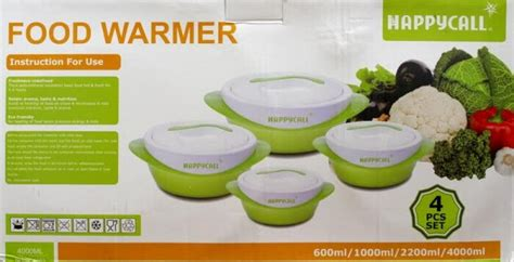 Penghangat Makanan Food Warmer Happycall happy call thermo container 4pc food warmer indonetshop