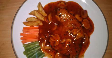 Murah Meriah Pemanggang Kochi Pan Grill resep sirloin steak with blackpaper sauce oleh ahlaerzky cookpad