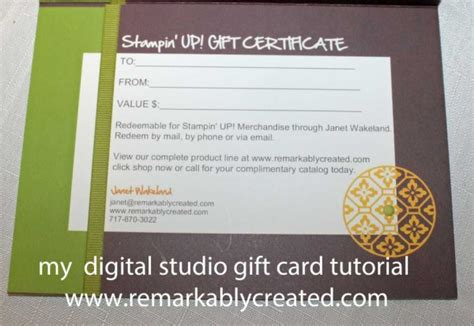 make my own gift cards my digital studio monday create your own gift