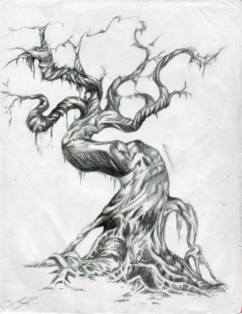 evil tree tattoo designs moon drawing search drawings