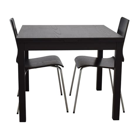 ikea dining table set 70 off ikea ikea three piece dining set in black tables