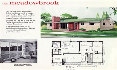 mid century ranch house plans 1960s ranch house plans mid century ranch house plans