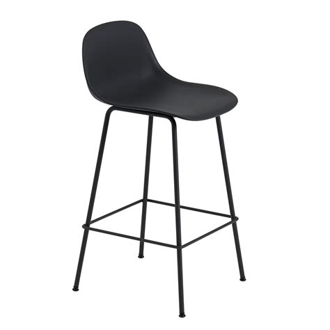 Metal Bar Stool With Backrest by Fiber Bar Base With Backrest By Muuto Connox