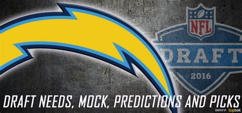 chargers draft picks san diego chargers 2016 nfl draft needs mock predictions
