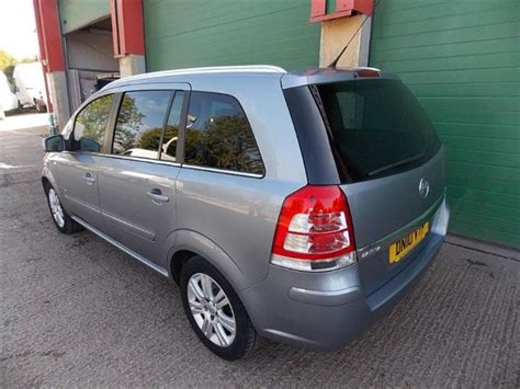 used 2010 vauxhall zafira design 7 seater for sale in