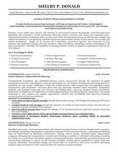 Supply Chain Resume Sle by 100 Senior Management Resume Exles Finance