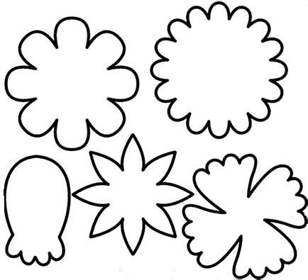 flower cut out template flower cutout clipart best
