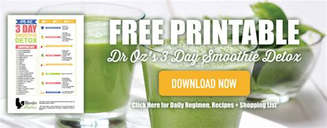 Dr Oz 3 Day Smoothie Detox After A Binge Weekend by Need A Reboot Try Dr Oz S 3 Day Detox Smoothie