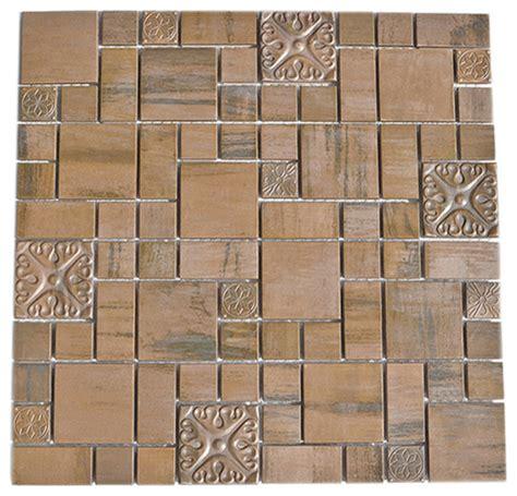 copper tile template modern cobble pattern copper mosaic tile sheet