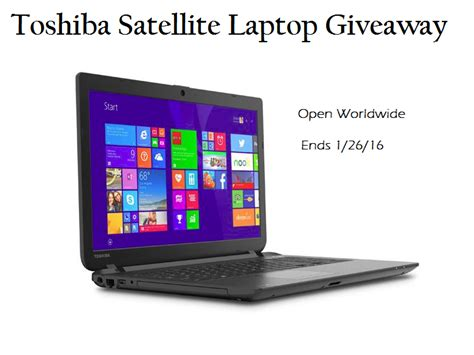 Notebook Giveaway - toshiba satellite laptop computer giveaway