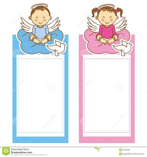 clipart battesimo ragazza e ragazzo di battesimo illustrazione vettoriale