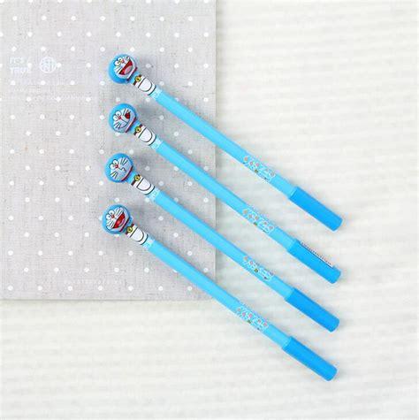 Pen Gel Kartun Doraemon Ballpoint Spe033 aliexpress buy 4 pcs lot smiling doraemon gel pen ink marker pen school office supply