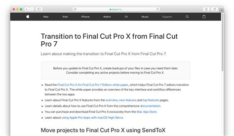 final cut pro hardware requirements apple final cut proやmotionなどの最低システム条件を macos 10 13 2以降 に変更