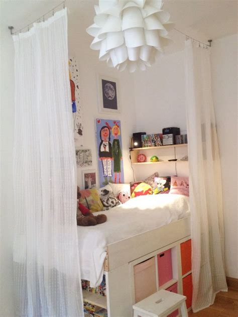 storage bed kallax expedit girls room kids room diy