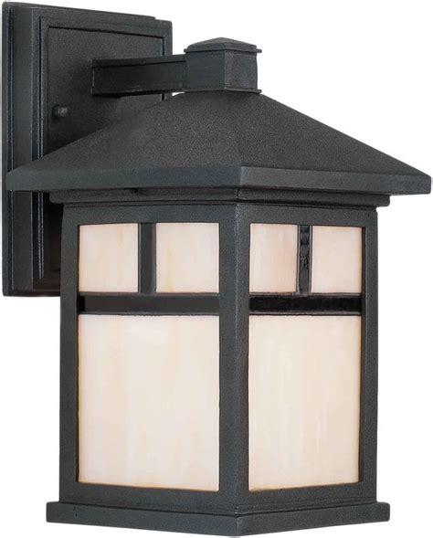 Outdoor Mission Lighting Forte Lighting 1773 01 04 Black Craftsman Mission