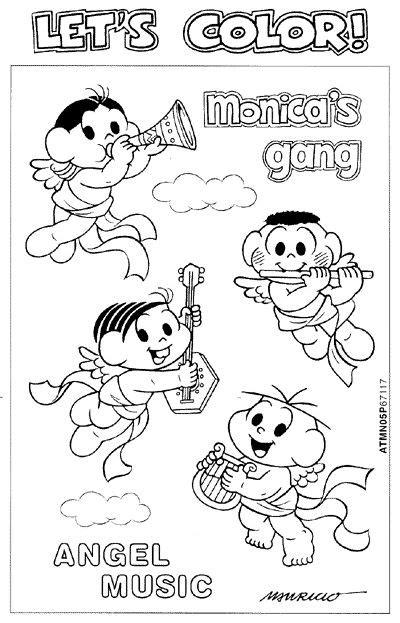 Turma da Monica para atividades: Desenhos diversos