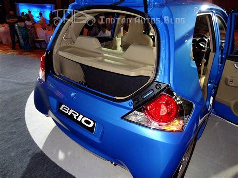 honda brio boot space review honda brio boot space indian autos blog