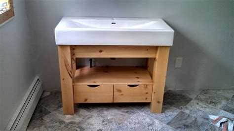 Knotty Pine Vanity Custom Porcelain Top Knotty Pine Vanity By Ziegler Woodwork And Specialty Custommade