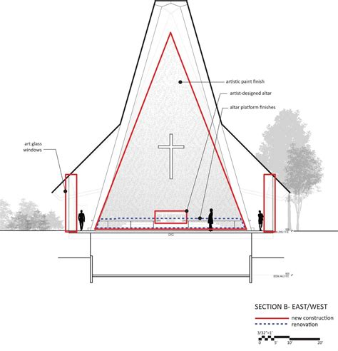 church section st paul s episcopal church team atelierjones archdaily